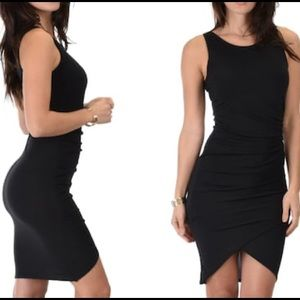 💥NWOT Black Ruched Bodycon Dress